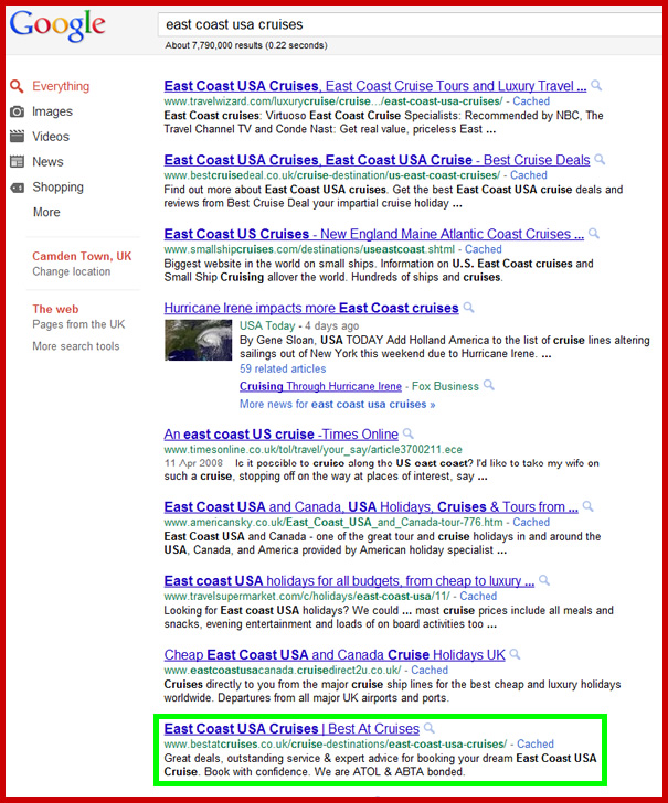 We got #1 and Page 1 Google Rankings for ~10,000 pages